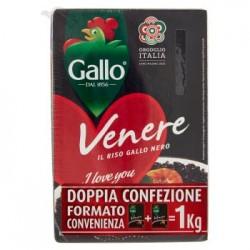 RISO GALLO VENERE il riso Gallo nero doppia confezione 1 kg.