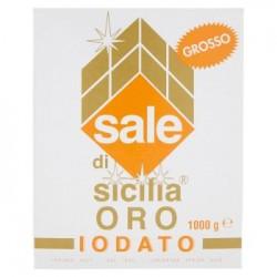 SALE DI SICILIA SALE GROSSO iodato Oro scatola 1 kg.