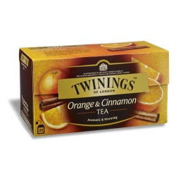 TWININGS ORANGE & CINNAMON TEA 20 filtri