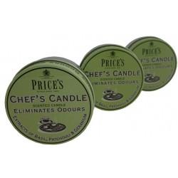 PRICE'S CHEF'S CANDLE Candela elimina odori cucina