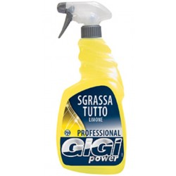 GIGI POWER DETERGENTE SGRASSATUTTO SPRAY LIMONE 750 ML