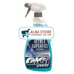 GIGI POWER DETERGENTE VETRI E SUPERFICI SPRAY 750 ML.