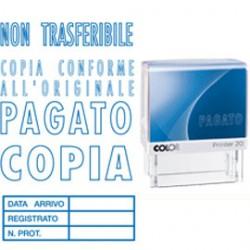 """Timbro Printer 20/L0126 """"PAGATO"""" 14x38mm Colop"""