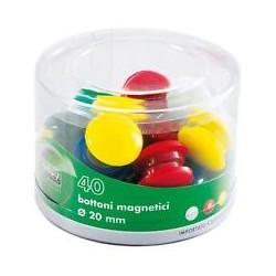 Barattolo 40 Magneti Tondi Ø 20mm Colori Ass. Art.2140