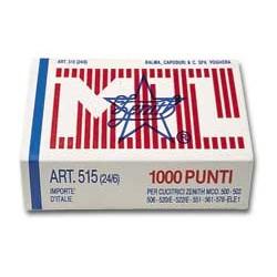 Scatola 1000 Punti Zenith 515 (24/6) In Acciaio Naturale