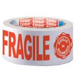 Nastro Adesivo Fragile Ppl 66mtx50mm Con Sigillo Sicurezza 7024 Tesa