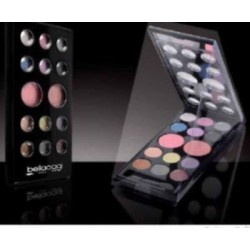 TROUSSE MAKE UP BELLA OGGI 14 COLORI VISO OCCHI PALETTE PROFESSIONAL MAKE UP