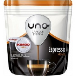 16 Capsule CAFFE' KIMBO UNO SYSTEM Miscela Dolce