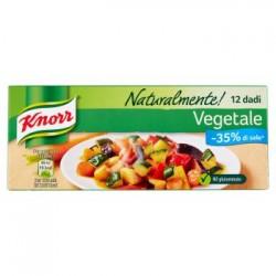 Knorr Naturalmente 10+2 Dadi Gusto Vegetale Meno 35% di Sale No Glutammato