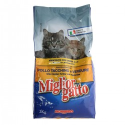 Miglior Gatto Crocchette Pollo Tacchino Verdure 2 kg