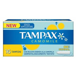 TAMPAX CAMOMILE NORMAL 16 PZ.SENZA APPLICATORE ASSORBENTI INTERNI
