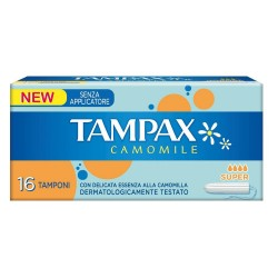 TAMPAX CAMOMILE SUPER 16 PZ.SENZA APPLICATORE ASSORBENTI INTERNI
