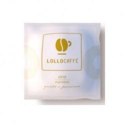 100 Cialde Caffe' Lollo Miscela Oro Filtro In Carta Ese 44 Mm