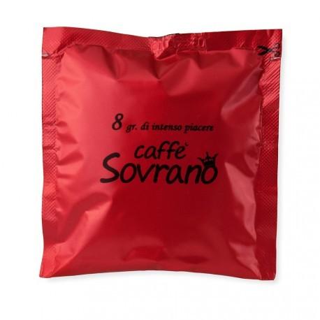 150 Cialde Caffe' Sovrano Filtro In Carta Ese 44 Mm Espresso Arabica