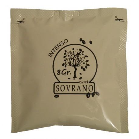 150 Cialde Caffe' Sovrano Filtro In Carta Ese 44 Mm Espresso Intenso