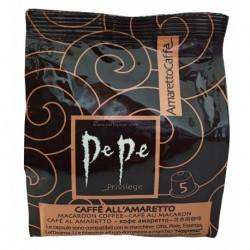 80 Capsule Caffe' Aromatizzato All' Amaretto Marca Pepe Compatibili Nespresso