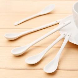 Set 6 Cucchiaini anche da caffè in Porcellana Bianca