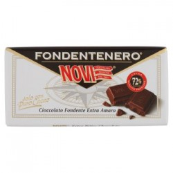 Novi Fondentenero Cioccolato Fondente Extra Amaro 72% Cacao Senza Glutine confezione 100gr