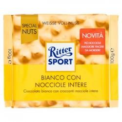 Ritter Sport Tavoletta di Cioccolato Bianco con Nocciole confezione 100gr
