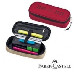 FABER CASTELL astuccio ovalino grip melange rosso 22- h 5- p 9 cm