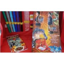 Cartella Scuola I Gormiti MYTOS con matite colori quaderno righello
