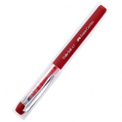 12 Penne Roller Ball 0.7mm Rosso Grip Faber Castell