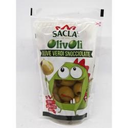 Olive Verdi Snocciolate Sacla' 185gr