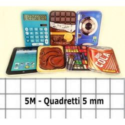 Maxi Quadernoni A4 Quadretti 5mm 5 Pezzi