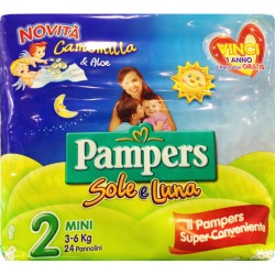 PAMPERS PANNOLINI SOLE E LUNA 2 MINI 3-6 Kg 22 PZ.