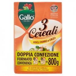 Gallo Linea Benessere 3 Cereali Riso Farro e Orzo Conf. 2x400 g