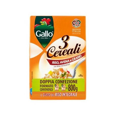 Gallo 3 Cereali Riso Avena e Grano conf. 2x400 g