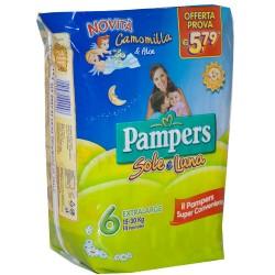 PAMPERS PANNOLINI SOLE E LUNA 6 XL 15-30 Kg 14 PZ.