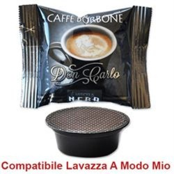 50 capsule CAFFE' DON CARLO MISCELA NERA compatibili A MODO MIO