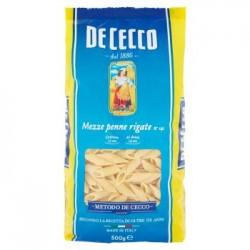 De Cecco Mezze Penne Rigate n.141 Pasta di Semola di Grano Duro 500 g