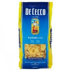 De Cecco Farfalle n. 93 Pasta di Semola di Grano Duro 500 gr