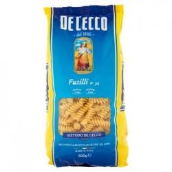 De Cecco Fusilli n. 34 Pasta di Semola di Grano Duro 500 g