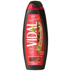 Vidal For Men Bagnoschiuma Doccia Shampoo Viso 3in1 Legno Di Agar & Sandalo 500 Ml