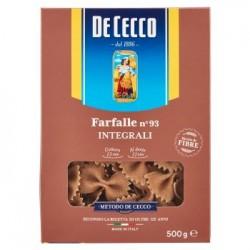 De Cecco Farfalle n. 93 pasta integrale di grano duro 500 g