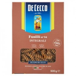 De Cecco Fusilli n. 34 pasta integrale di grano duro 500 g