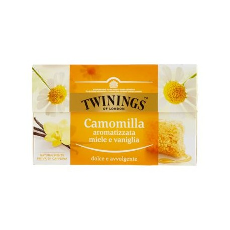 TWININGS CAMOMILLA AROMATIZZATA miele e vaniglia