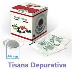 10 Cialde DEPURATIVA in foglia Filtro in Carta ESE 44 mm compatibili MOKONA