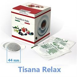10 Cialde TISANA RELAX in foglia formato 44mm ESE compatibili MOKONA