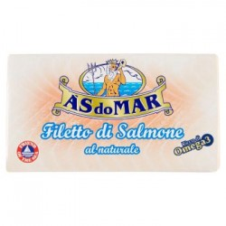 ASDOMAR, filetto di salmone al naturale 150 g