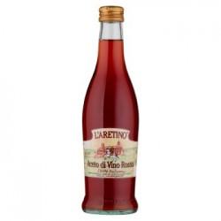 L'ARETINO ACETO DI VINO ROSSO 6% di acidita' bottiglia 50 cl