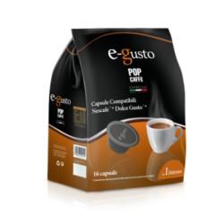 16 Capsule Intenso Pop Caffè E-Gusto Compatibile Dolce Gusto