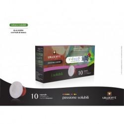 10 Capsule Tisane Solubili Lollo The Mirtillo e Frutti Di Bosco Compatibili Sistema Nespresso
