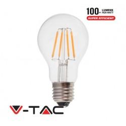 V-TAC Lampadina LED E27 FILAMENTO 4W A60 BIANCO CALDO VT-1885