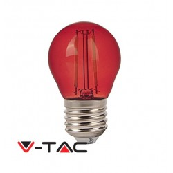 V-TAC Lampadina LED E27 2W MINIGLOBO G45 FILAMENTO ROSSOVT-2132