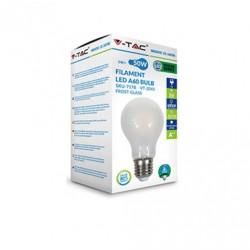 V-TAC Lampadina LED E27 5W BULBO A60 FILAMENTO BIANCO NATURALE VT 2045