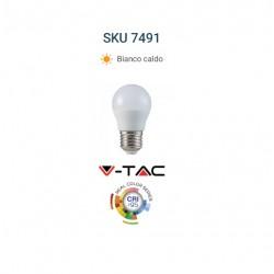 V-TAC Lampadina LED E27 5,5W MiniGlobo G45 CRI 95 BIANCO CALDO VT 2216